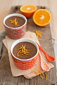 Chocolate mousse with orange zest