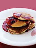 Pancakes mit Cranberries