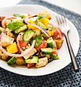 Colourful chicken salad