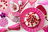 Various raspberry dishes