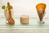 Apple strudel mousse, vanilla foam and nougat ice cream