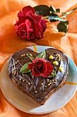 Torta a cuore (Schokoladen-Herztorte, Italien)