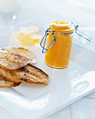 Toast with freshly made marmalade