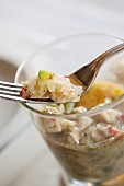 Ceviche (raw, marinated fish, South America)