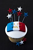 An almond cupcake for Bastille Day
