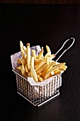 French fries in a frying basket