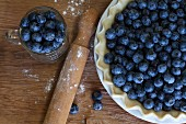 Blueberries and blueberry tart
