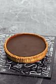 A chocolate tartlet