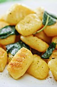 Gnocchi with sage (close-up)