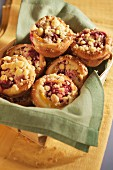 Cherry crumble tartlets