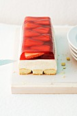 A strawberry terrine