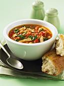 Casablanca chicken soup with chickpeas