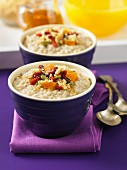 Irish porridge with dried fruits