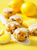 Lemon scones with fruit bits