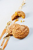Cookies with gold leaf