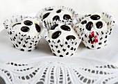Mini cupcakes with mocha beans