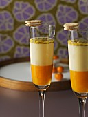 Panna cotta with passion fruit purée