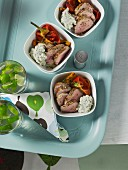 Grilled pork fillet with pepper
