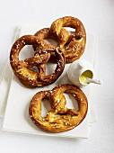 Three pretzels