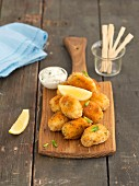 Salmon and potato croquettes with mint mayonnaise