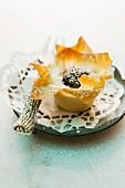 A cherry strudel flower