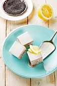 Lemon and poppy seed slices