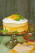 A layered lemon cake