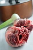 Raw lamb hearts