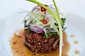 Thai tuna fish tartar