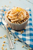 A nut cupcake