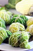 Savoy cabbage parcels (raw)