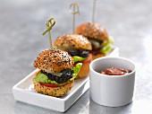 Miniburger mit Rindfleisch