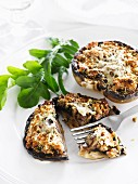 Mushrooms filled with cheese