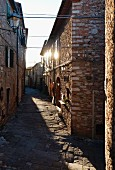 An alley in the old town quarter of Suvereto (Tuscany, Italy)