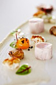Rabbit fillet with cauliflower cream, porcini mushrooms and quail's eggs