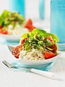 Crab salad with orange mayonnaise