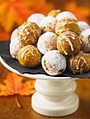 Pumpkin doughnuts and apple doughnuts
