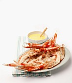 Scampi with ginger mayonnaise