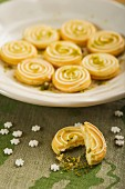 Lemon sables with lime zest