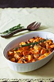 Roasted pumpkin with rosemary