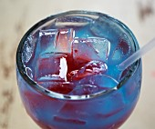 Shark Bite (cocktail made with rum, Curacao and grenadine)