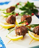 Veal meatballs with lemon and herbs