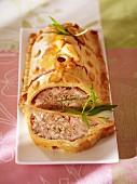 Rabbit pie with tarragon