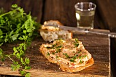 Bread with Liptauer cheese spread and fresh chervil