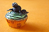 Cupcake with spider for Halloween