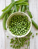 Freshly shelled peas