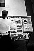 A chef preparing food
