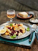 Risotto with radicchio and king prawns