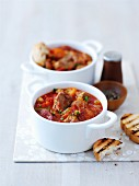 Turkey ragout with chorizo