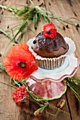 A chocolate and carrot muffin